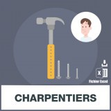 Base d'adresses emails de charpentiers