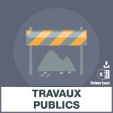 E-mails entreprises travaux publics