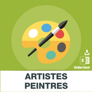 Adresses emails artistes peintres