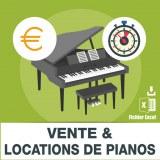 Emails vente et location de pianos