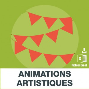 Adresses e-mails animation artistique