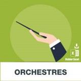 Base d'adresses e-mails des orchestres