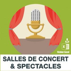 Emails salles de concerts et spectacles