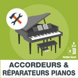 Emails accordeurs réparateurs pianos