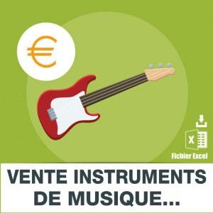 Emails vente instruments de musique et de partitions
