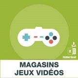 Adresse e-mail magasins jeux vidéo
