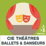 Emails troupes compagnies theatrales ballets et danseurs