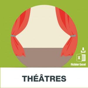 Base adresse e-mail des théâtres