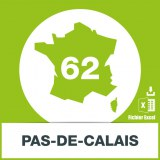 Base adresses e-mails Pas-de-Calais