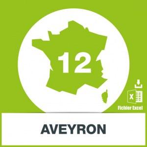 Base d'adresses emails dans l'Aveyron