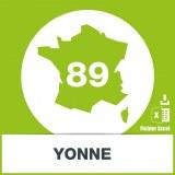 Base d'adresses emails dans l'Yonne