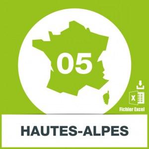 Base adresses e-mails Hautes-Alpes