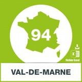 Base adresses e-mails Val-de-Marne