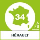 Base d'adresses emails dans l'Hérault