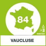 Base adresses e-mails Vaucluse