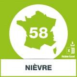 Base adresses emails Nièvre