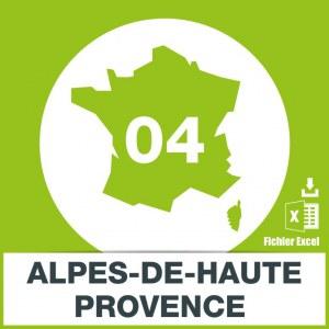 Base emails Alpes de Haute-Provence