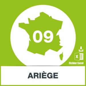 Base d'adresses emails dans l'Ariège