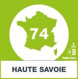 Base adresses emails Haute-Savoie