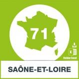 Base adresses emails Saone-et-Loire