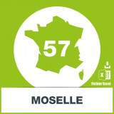 Base adresses emails Moselle