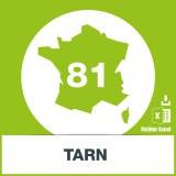 Base adresses e-mails Tarn