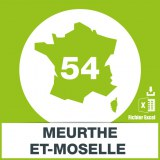 Adresses emails Meurthe et Moselle