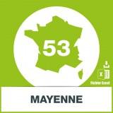 Base adresses emails Mayenne