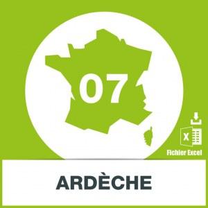Base d'adresses emails dans l'Ardèche
