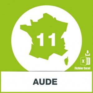 Base d'adresses emails dans l'Aude