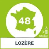 Base adresses emails Lozère