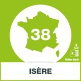 Base d'adresses emails dans l'Isère