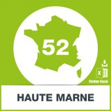 Base adresses emails Haute-Marne