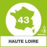 Base adresses emails Haute-Loire