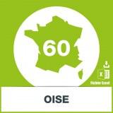 Base d'adresses emails dans l'Oise
