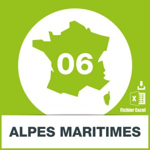 Base adresses e-mails Alpes-Maritimes