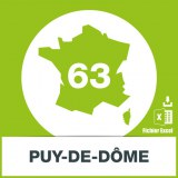 Base adresses e-mails Puy-de-Dome