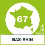 Base adresses emails Bas-Rhin