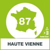 Base adresses emails Haute-Vienne