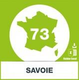 Base adresses emails Savoie