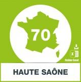 Base adresses emails Haute-Saone
