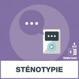 Base adresse emails de sténotypie