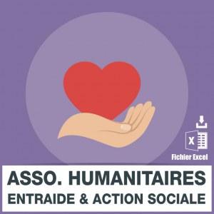 Emails des associations humanitaires