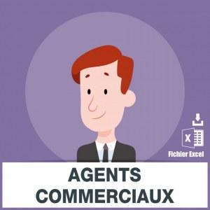 Base adresses e-mails agents commerciaux