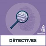 Adresses e-mails détective