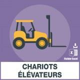 Adresses e-mails chariot élévateur
