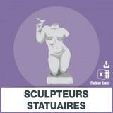 Adresses e-mails sculpteurs statuaires