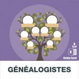 Adresses e-mails généalogistes