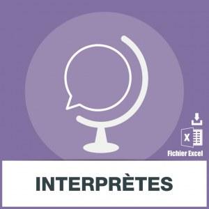 Base adresse emails des interprètes