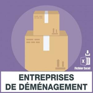 Emails entreprises de déménagement